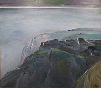 Reuben Tam - From Cliffs to Evening by Reuben Tam, oil on canvas, 1978, Honolulu Museum of Art