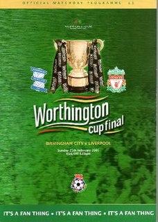 2001 Football League Cup Final Football match