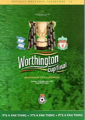 2001 Football League Cup Final - Match programme cover