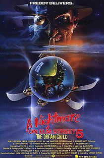 <i>A Nightmare on Elm Street 5: The Dream Child</i> 1989 American slasher film directed by Stephen Hopkins