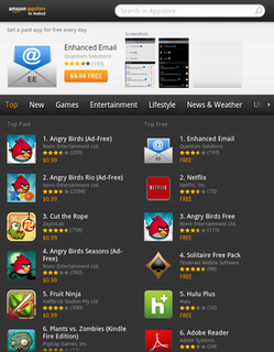 Amazon Appstore app store for the Android operating system operated by Amazon.com