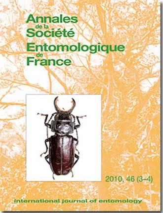 Annales de la Société Entomologique de France - Image: Annales de la Société Entomologique de France cover 46 (3 4)