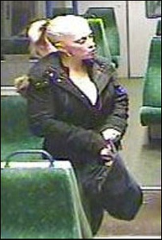 Ipswich serial murders - CCTV image of Alderton on the train was released by the police and heavily used by the media
