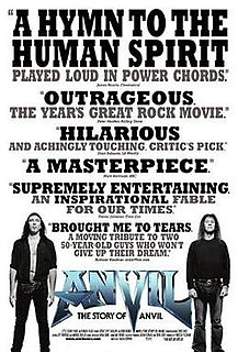 2008 rockumentary film about the Canadian heavy metal band Anvil directed by Sacha Gervasi