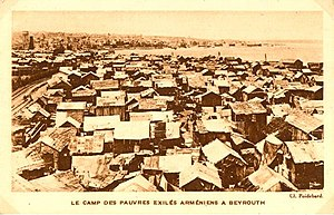 Armenians in Lebanon - Camp of Armenian exiles in Beirut