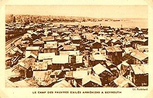 Armenians in Lebanon - Camp of Armenian exiles in Beirut