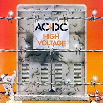 High Voltage (1975 album) - Image: Australian High Voltage ACDC