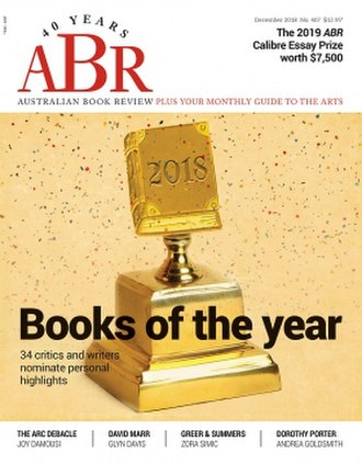 Australian Book Review - Image: Australian Book Review December 2018 cover