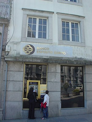 Branch of Banco Espírito Santo in Braga, Portugal.