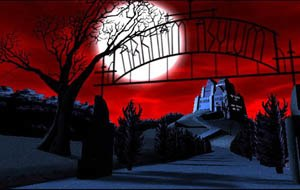Arkham Asylum - Arkham Asylum as it appeared on Batman: The Animated Series and The New Batman Adventures.