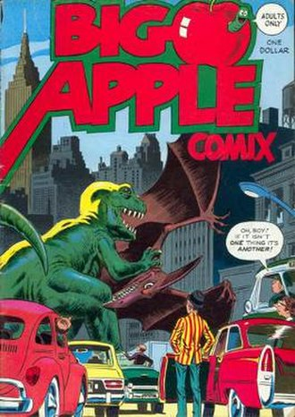 Flo Steinberg - Editor-publisher Steinberg's Big Apple Comix (Sept. 1975). Cover art by Wally Wood.