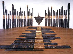 Ralph Hotere - Black Phoenix (1984–88), a major installation now in the collection of Te Papa Tongarewa.