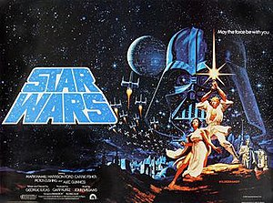 Brothers Hildebrandt - The Hildebrandts' Style 'B' quad poster for the UK release of Star Wars (1977)