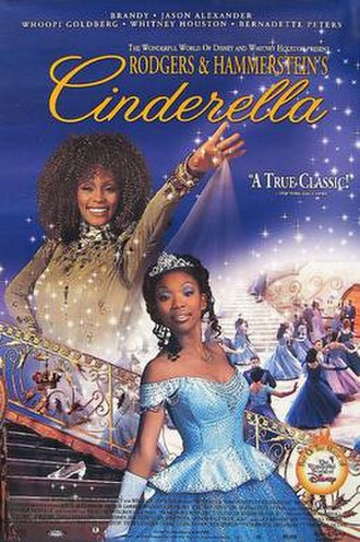 Cinderella (1997 film) - Home video promotional image, featuring Houston and Brandy in costume as their respective characters.