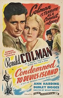 <i>Condemned</i> (1929 film) 1929 film by Wesley Ruggles