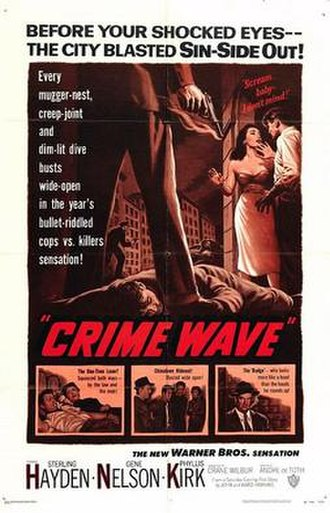 Crime Wave (1954 film) - Theatrical release poster