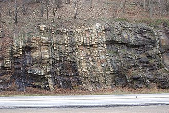 Clinton Group - Rocks of the Clinton Group on the east face of Schuylkill Gap