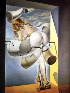 <i>Young Virgin Auto-Sodomized by the Horns of Her Own Chastity</i> painting by Salvador Dalí