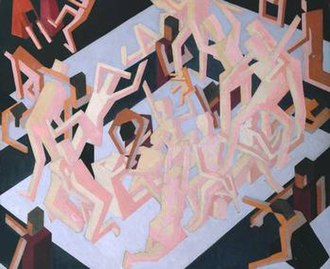 1912 in art - Image: David Bomberg Visionof Ezekiel
