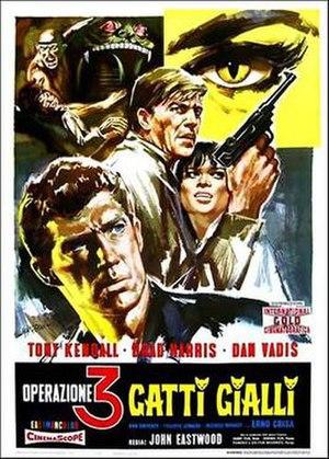 Kommissar X – Drei gelbe Katzen - Italian film poster