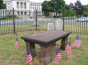 Enoch Poor - Poor's burial site. The inscription includes: In 1824, Lafayette re visited this grave, and turning away much affected, exclaimed, Ah, that was one of my Generals.