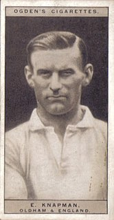 Ernie Knapman English rugby union and rugby league footballer