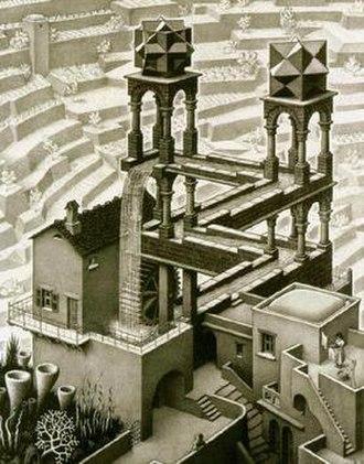 Waterfall (M. C. Escher) - Image: Escher Waterfall