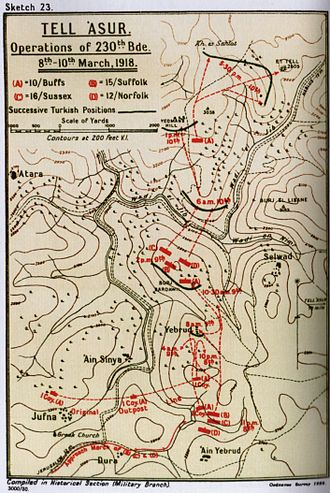Battle of Tell 'Asur - Tell 'Asur operations of 230th Brigade 74th Division