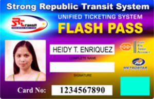 Strong Republic Transit System - A sample Flash Pass Card