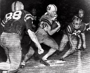 Billy Cannon's Halloween Run - Cannon during his punt return