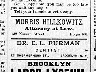 Morris Hillquit - Hillquit used his original surname through 1897.