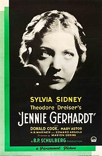 <i>Jennie Gerhardt</i> (film) 1933 film by Marion Gering
