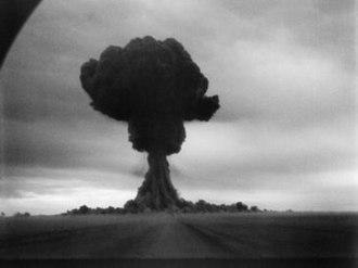 RDS-1 - The mushroom cloud from the first RDS-1 test (1949).