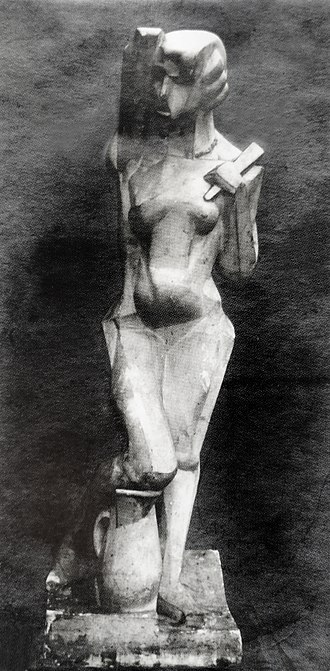 Joseph Csaky - Joseph Csaky, 1912, Danseuse (Femme à l'éventail, Femme à la cruche), original plaster, exhibited at the Salon d'Automne of 1912, Paris, n. 405, and Salon des Indépendants of 1914, n. 813, photo from Csaky archives AC.110