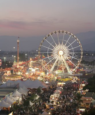 L.A. County Fair - The 2008 L.A. County Fair at dusk in Pomona