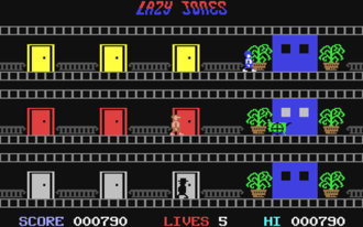 Lazy Jones - Screenshot from the Commodore 64 version.