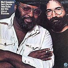 Posed photo of Merl Saunders and Jerry Garcia by Annie Leibovitz