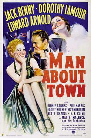Man About Town (1939 film) - Film poster
