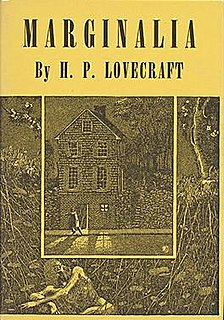 <i>Marginalia</i> (collection) book by Howard Phillips Lovecraft