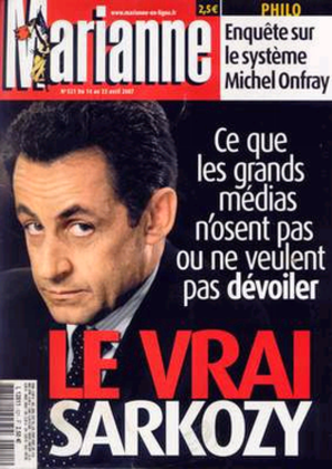 Marianne (magazine) - Front page