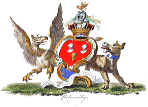 Marquess of Cholmondeley - 19th-century illustration of the Marquess' coat of arms