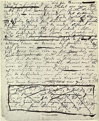 The Little Mermaid - Original manuscript, last page