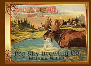 Culture in Missoula, Montana - Image: Moose Drool Brown Ale (advertising image)