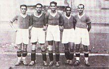 Attila Sallustro in the middle, with Napoli teammates in 1927