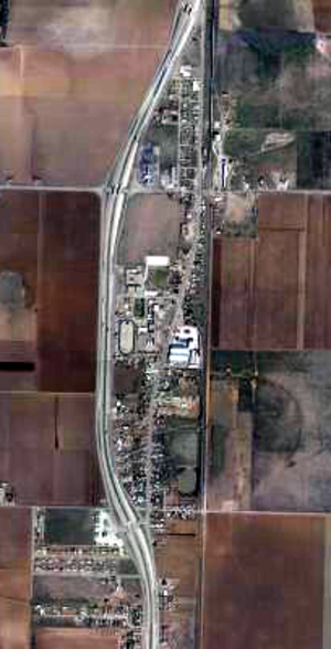 New Deal, Texas - Aerial image of New Deal