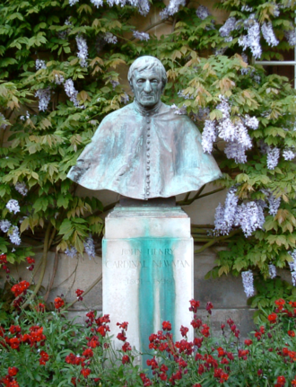 Oxford University Newman Society - Trinity College's bust of John Henry Newman