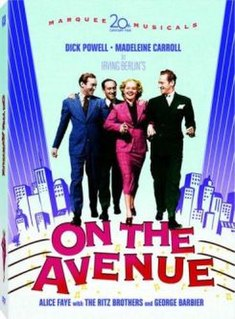 <i>On the Avenue</i> 1937 film by William A. Seiter, Roy Del Ruth