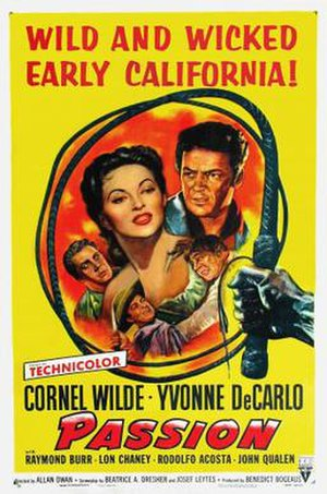 Passion (1954 film) - Theatrical release poster