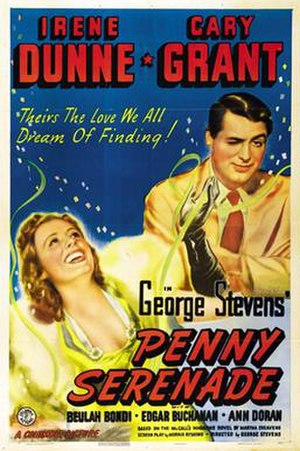 Penny Serenade - Theatrical release poster