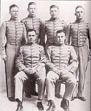 Members of Phi Delta Theta at West Point in 1917 prior to their deployment in the First World War